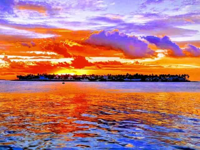 key west sunset from a florida keys boat rental