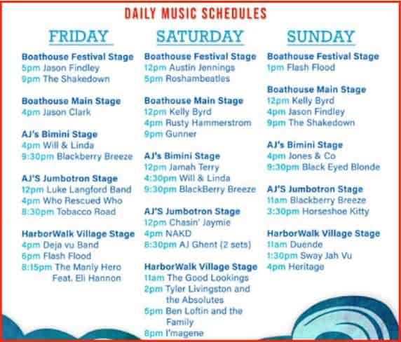 seafood-festival-music-lineup-in-destin