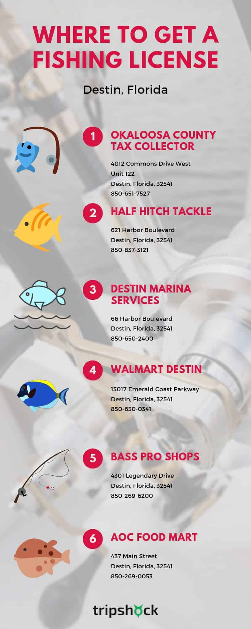where to get a fishing license in destin florida
