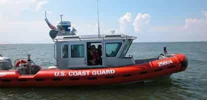 Coast Guard Vessel in the gulf of mexico