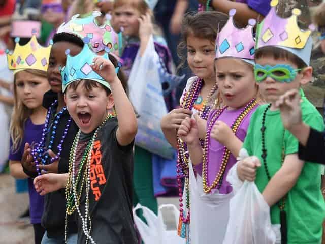 kid friendly mardi gras parade