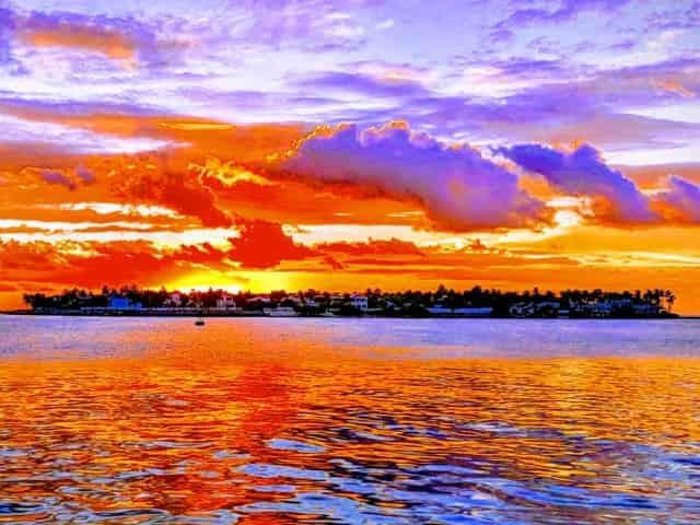beautiful sunset in key west fl