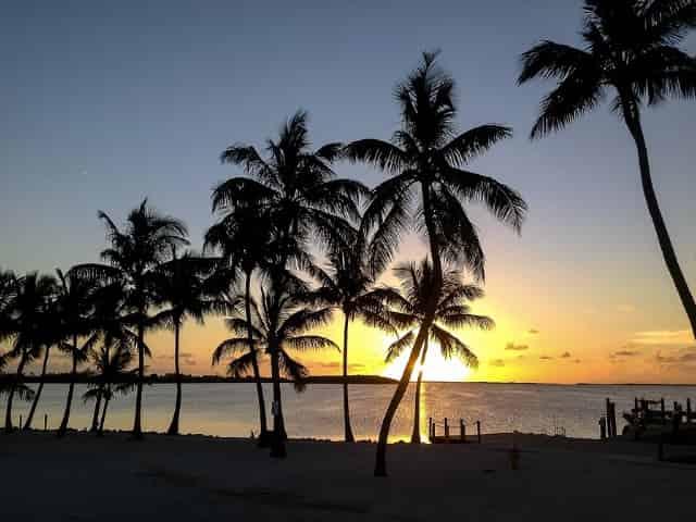 beautiful sunset in key largo florida