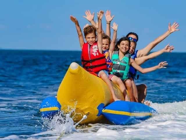 banana boat ride in 30A, Florida