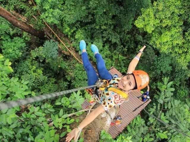 ziplining in Ocean Springs, MS
