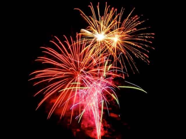 fireworks at the wharf in orange beach