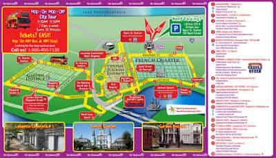 hop on hop off new orleans bus tour map