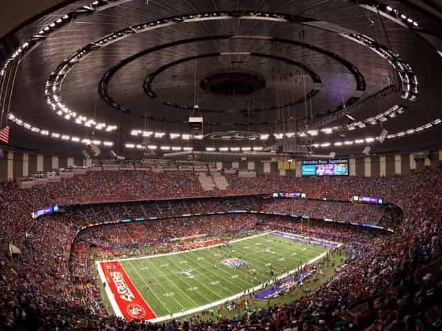 inside of the superdome in new orleans