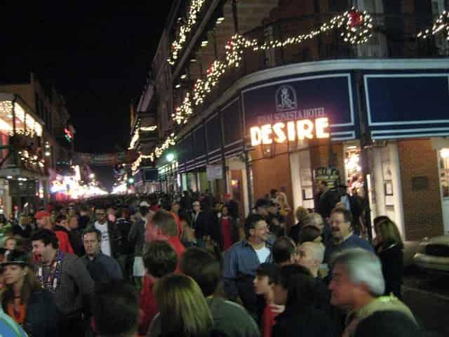bourbon street on new years eve