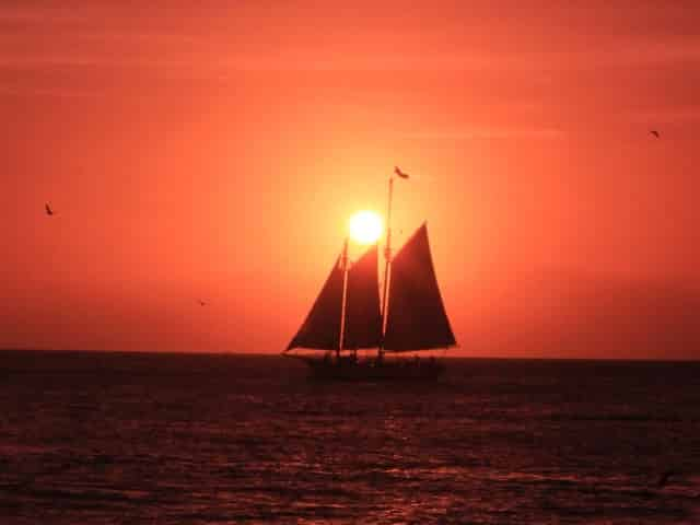 sailing under the sun in key west