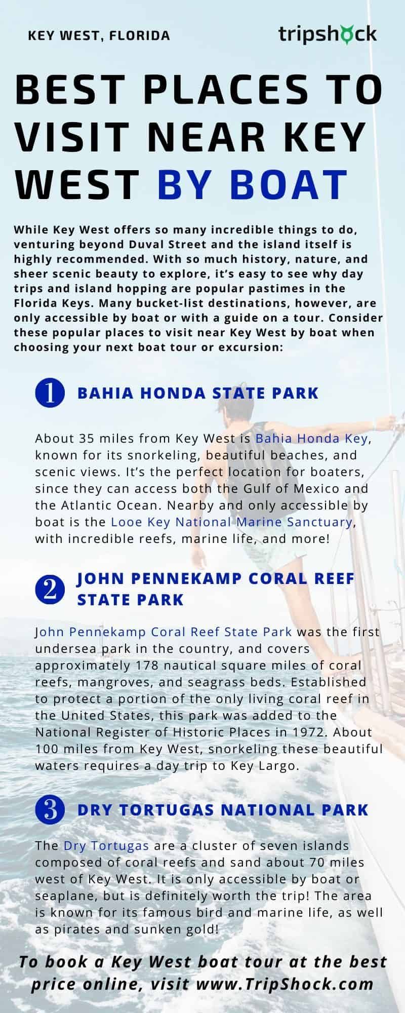 Best Places to Visit Near Key West By Boat