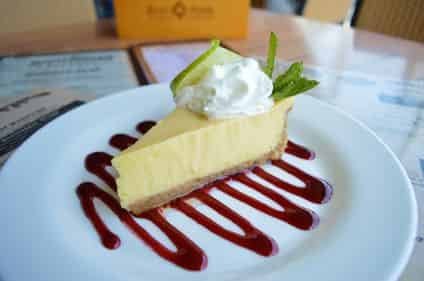key lime pie served on a food tour in key west