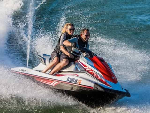 couple on their key west jet ski tour
