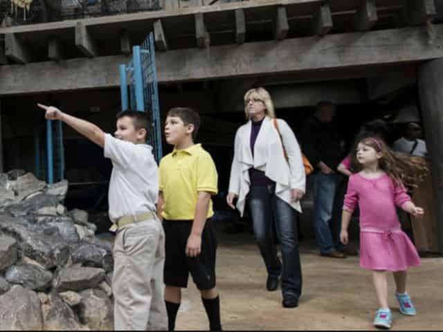 mississippi river gallery at the aquarium