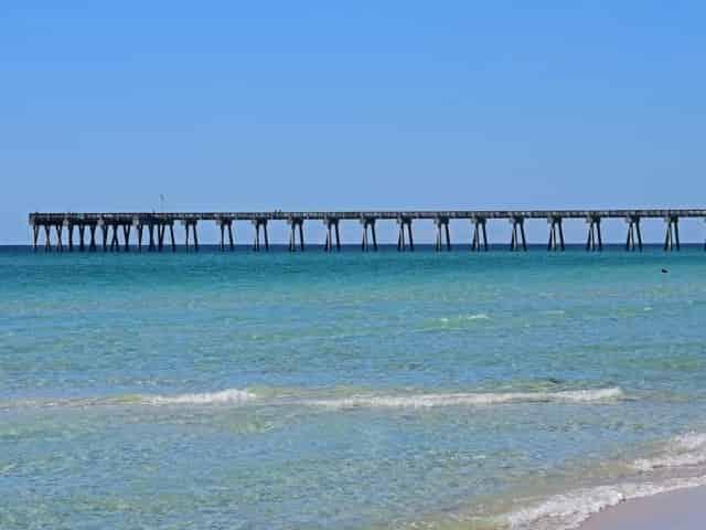Russell-Fields Pier public beach in</p><p></p><p>panama city beach