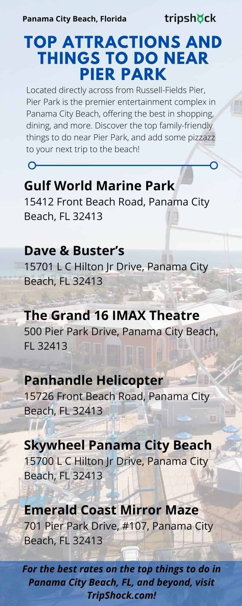 Top Attractions and Things to do Near Pier Park