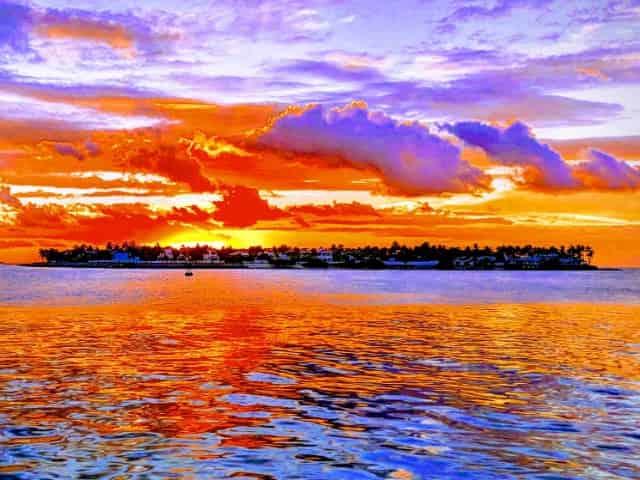 stunning sunset over key west, fl