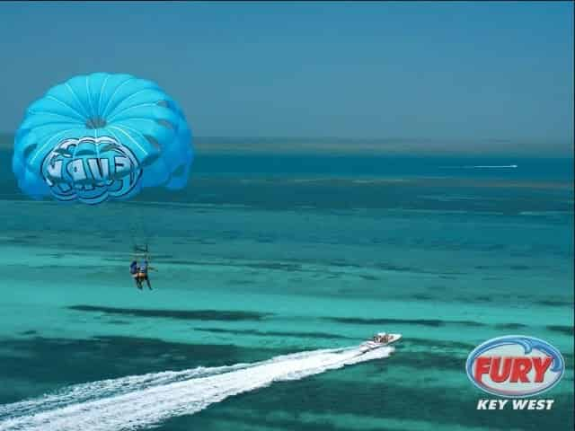 parasailing over key west florida
