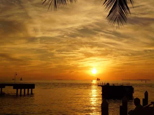 beautiful key west sunset