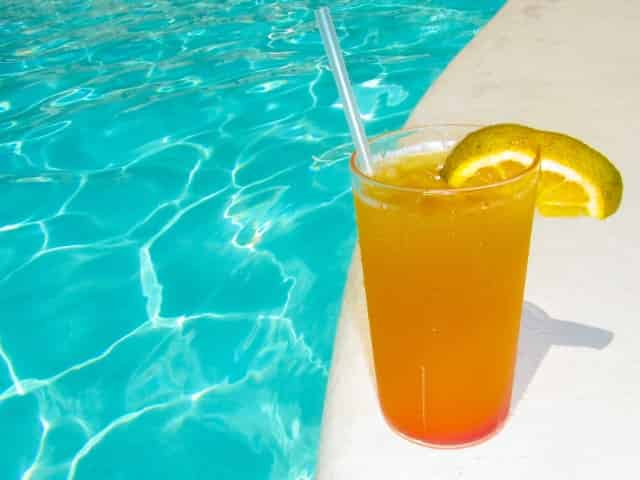 drinks by the pool at the IP in biloxi