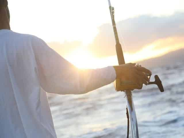 deep sea fishing at sunset in Key West, Florida