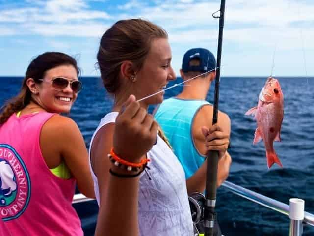 snappers caught while party boat fishing