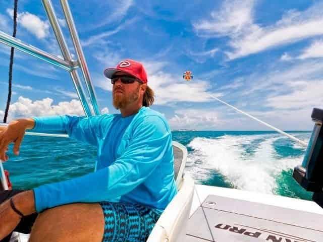 Destin parasailing over the Gulf of Mexico
