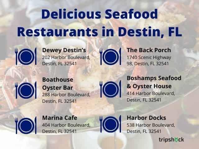 Delicious Destin seafood restaurants