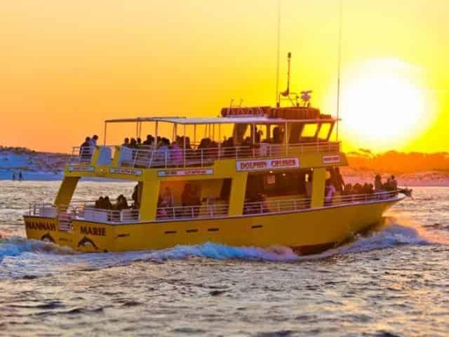 Destin dolphin and sunset cruise