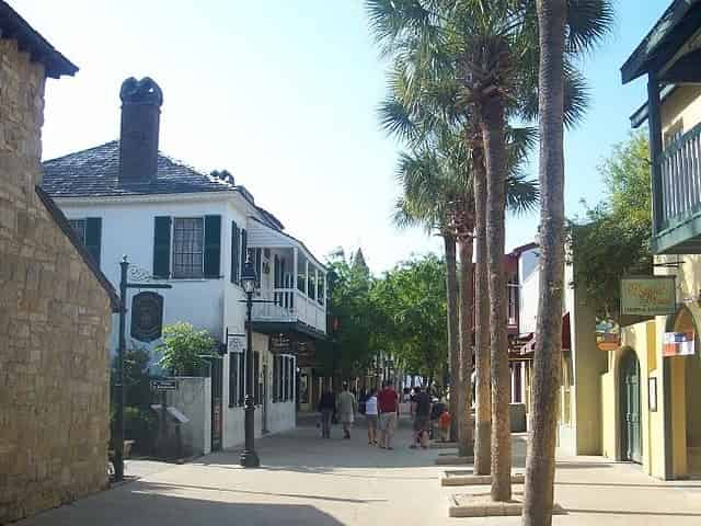 St. George Street in downtown St. Augustine