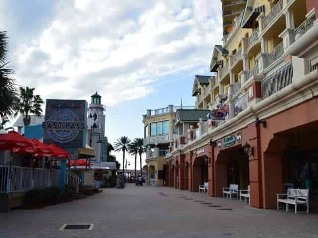 Shopping at the HarborWalk Village boardwalk in Destin, FL