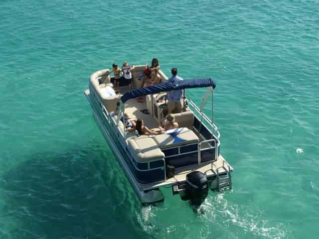 Crab Island in Destin pontoon rental