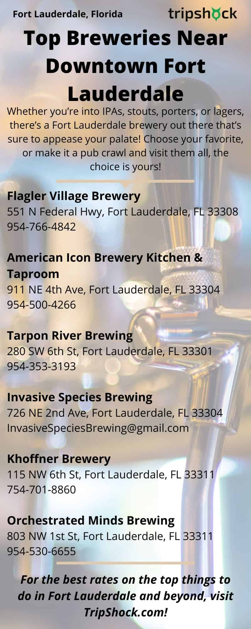 Top Breweries near Downtown Fort Lauderdale