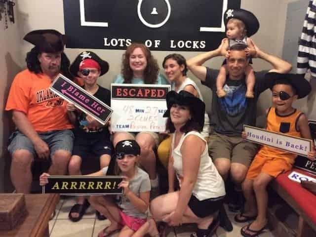 group escapes a Perdido Key escape room