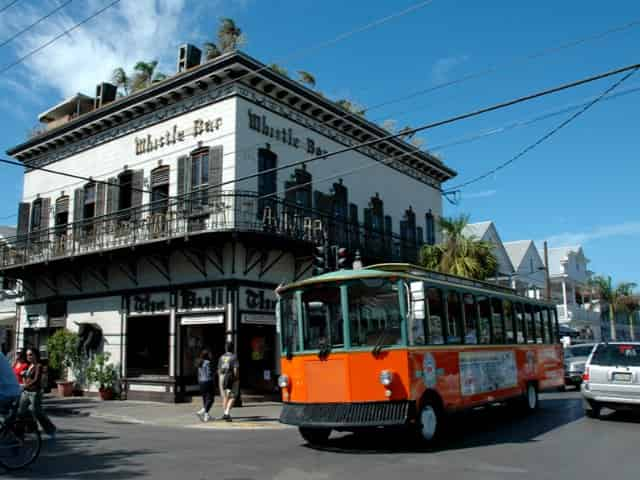 trolly tour through key west fl