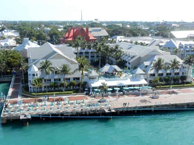 view of key west from cruise ship