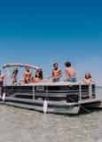24 ft. Pontoon Boat Rental with Power Up Watersports (12 Passengers)