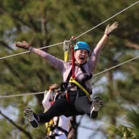 Zipline Course at The Wharf in Orange Beach
