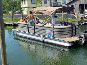 OB Watersports Full Day Tritoon Boat Rental