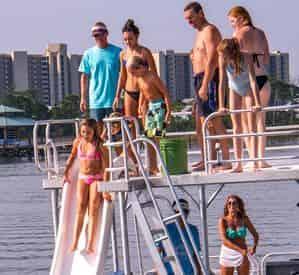 Full Day Pontoon Boat Rental with Slide in Orange Beach
