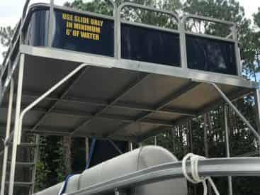 30A Double Decker Pontoon Boat Rental with Slide