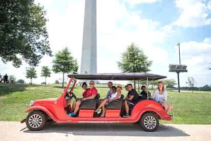 Mall and Monuments by Electric Cart