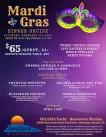 Sandestin Mardi Gras Fine Dining Dinner and Dancing Cruise