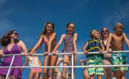 Full Day Pontoon Boat Rentals by Happy Harbors
